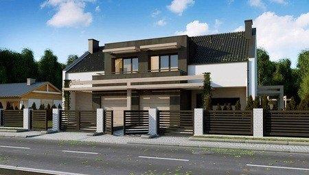 Проект будинку з елементами кубізму в архітектурі