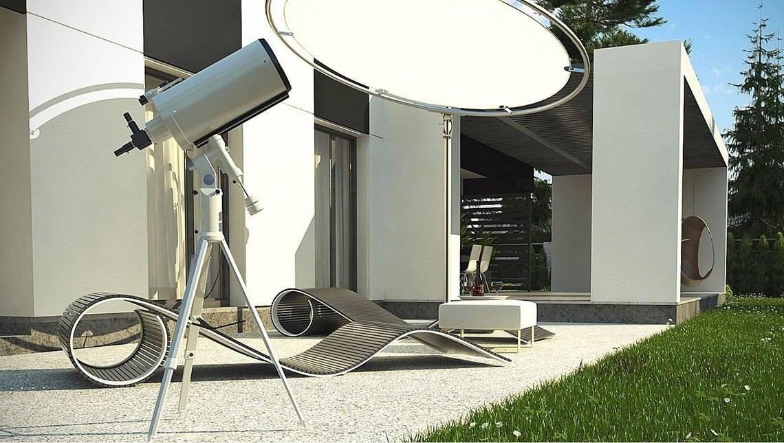 Одноповерховий котедж з плоским дахом для вузької ділянки