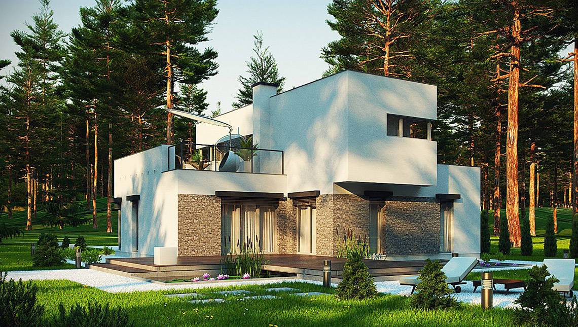 Проект модернового котеджу з площею до 150 m²