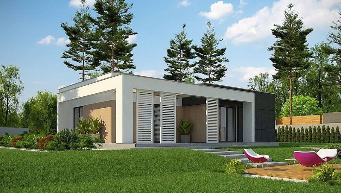 Проект невеликого одноповерхового будинку з плоскою покрівлею