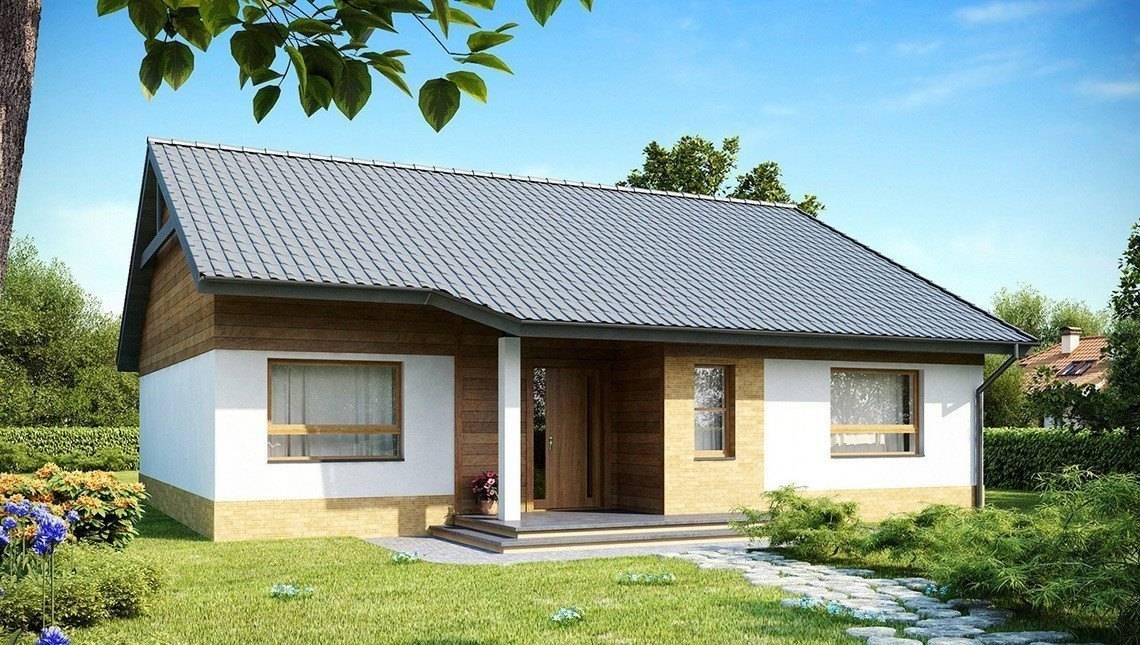 Проект одноповерхового котеджу з трьома спальнями і двосхилим дахом