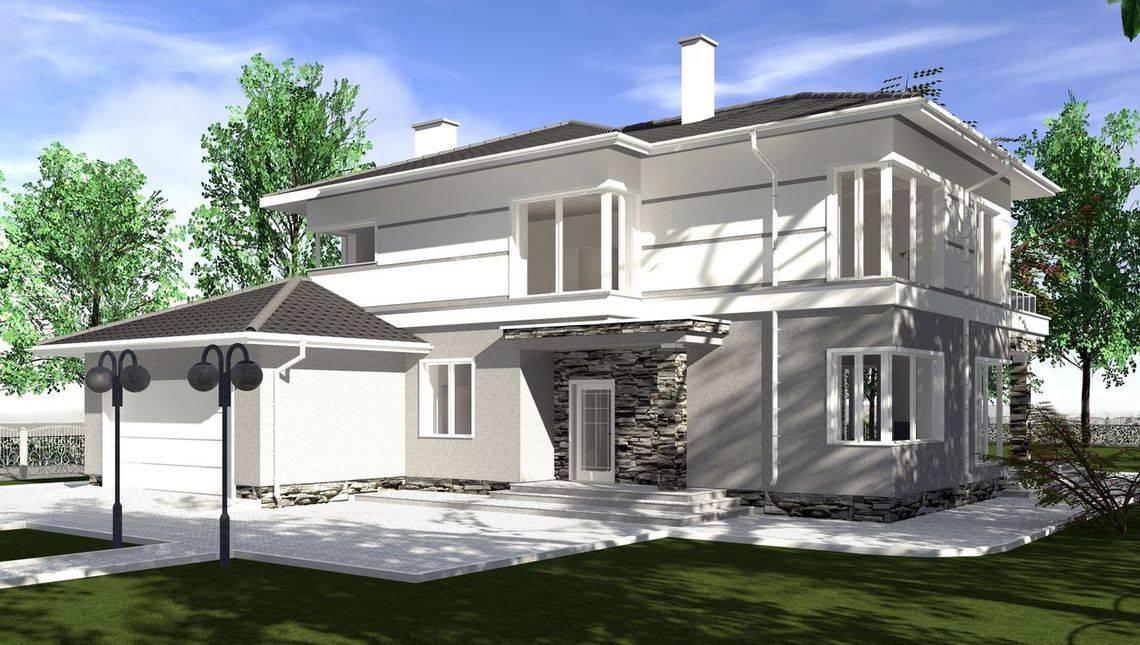 Цікавий проект двоповерхового особняка площею 320 m²