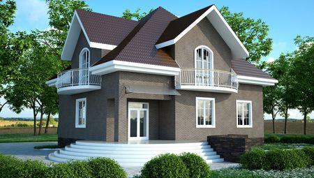 Проект вишуканого будинку незвичайної архітектурної форми