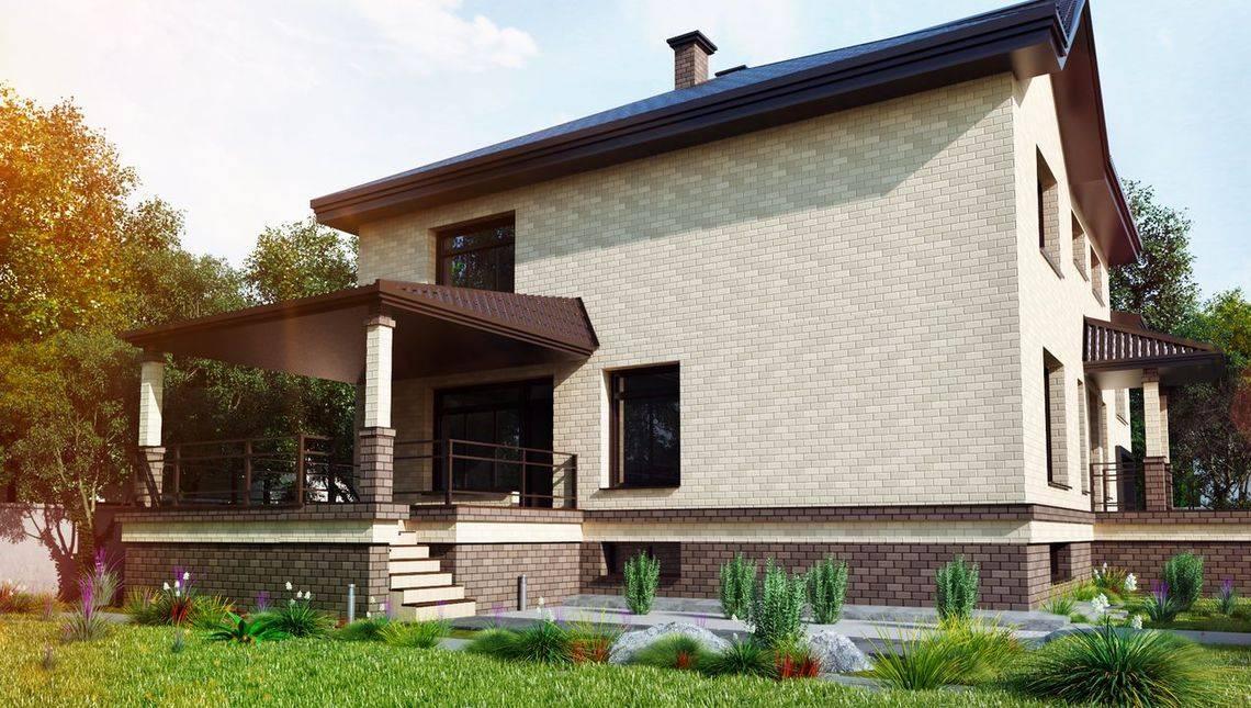 Двоповерховий просторий будинок з цокольним поверхом