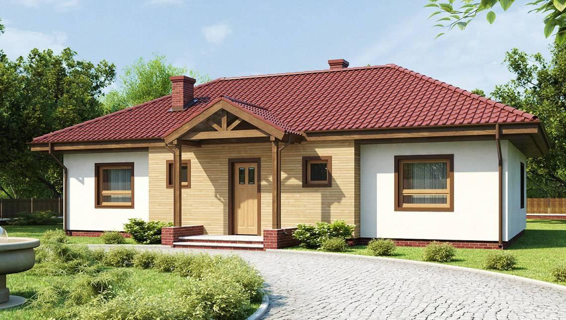 Проект симетричного одноповерхового будинку