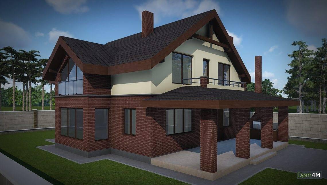 Архітектурний проект цегляного будинку з погребом