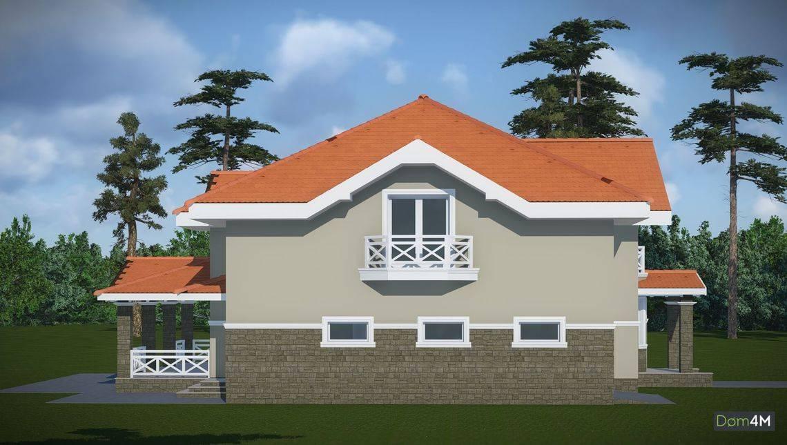 Проект житлової садиби з гаражем