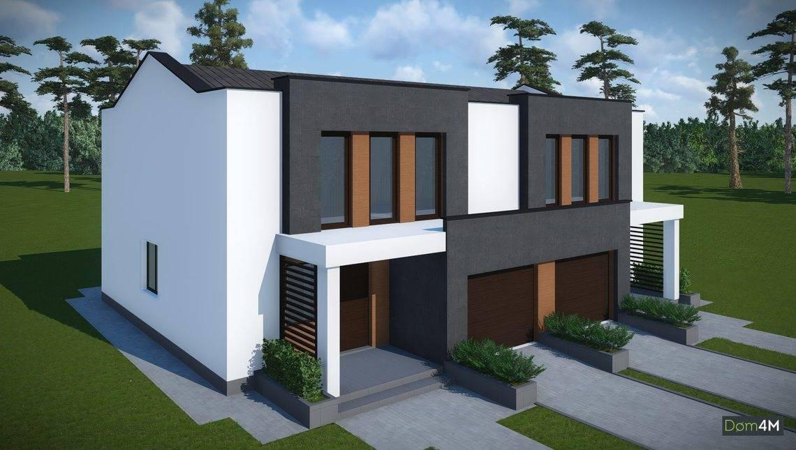 Архітектурний проект сучасного будинку на дві сім'ї