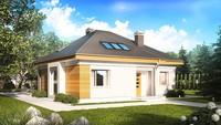 Проект будинку з додатковими кімнатами на першому поверсі