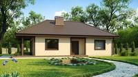 Проект маленького будинку з терасою
