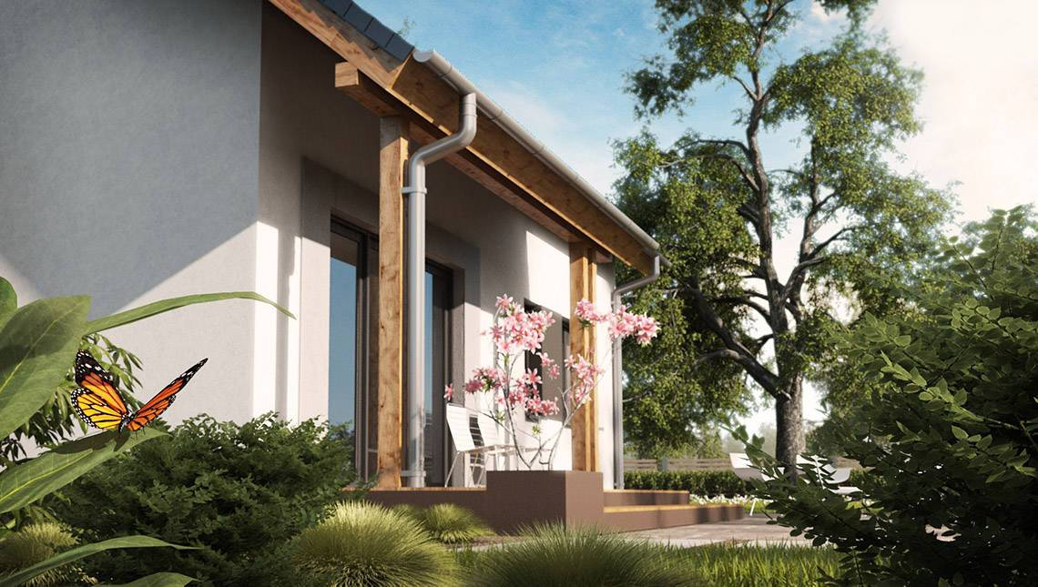 Проект зручного будинку з кабінетом на першому поверсі
