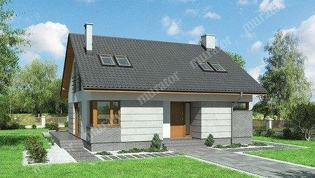 Проект двоповерхового будинку квадратної форми