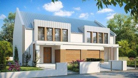 Проект будинку на дві сім'ї сучасного дизайну