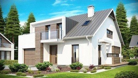 Проект сучасного будинку з гаражем