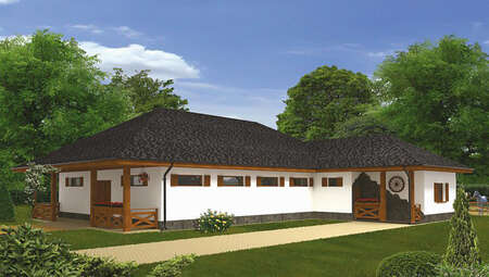 Сучасна стайня з житловою прибудовою