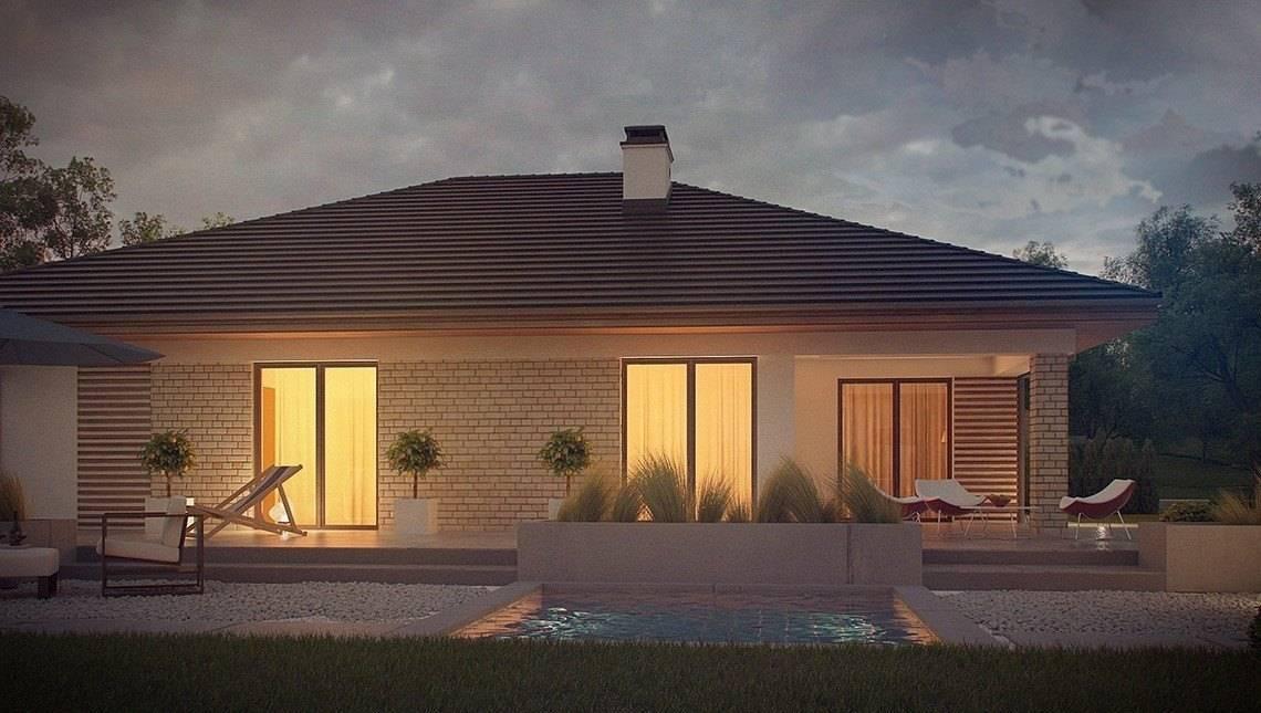 Проект одноповерхового будинку з терасою