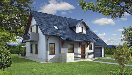 Акуратний будинок в благородному забарвленні