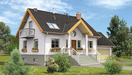 Двоповерховий будинок з цокольним поверхом