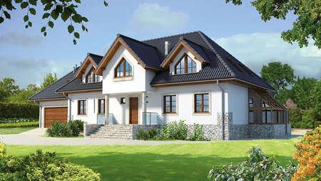 Проект житлового будинку привабливого зовнішнього вигляду