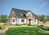 Проект стильного будинку з двома балконами