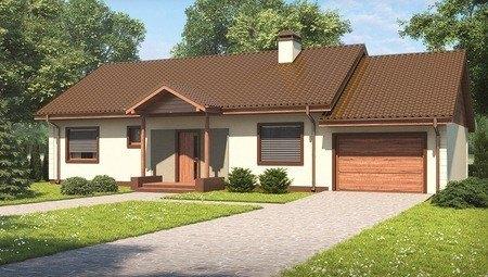 Проект одноповерхового будинку з гаражем