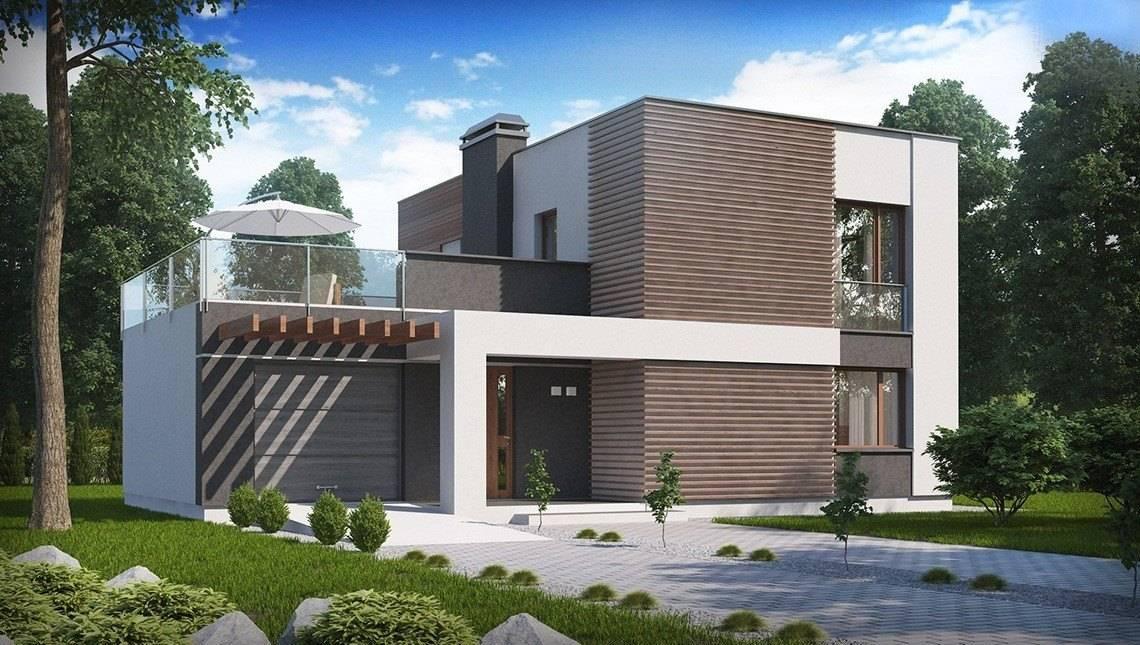 Сучасний проект двоповерхового будинку з гаражем