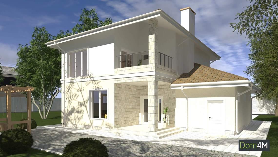 Проект яскравого будинку в середземноморському стилі