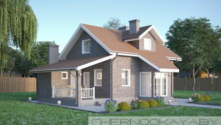 Двоповерховий стильний будинок незвичайного дизайну