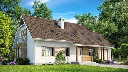 Проект великого будинку з мансардою та гаражем