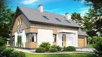 Проект будинку з терасою та гаражем