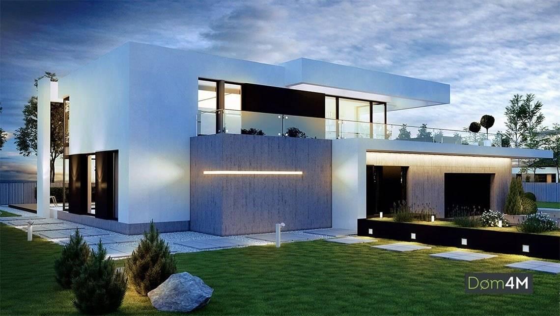 Красивий двоповерховий будинок в стилі мінімалізму