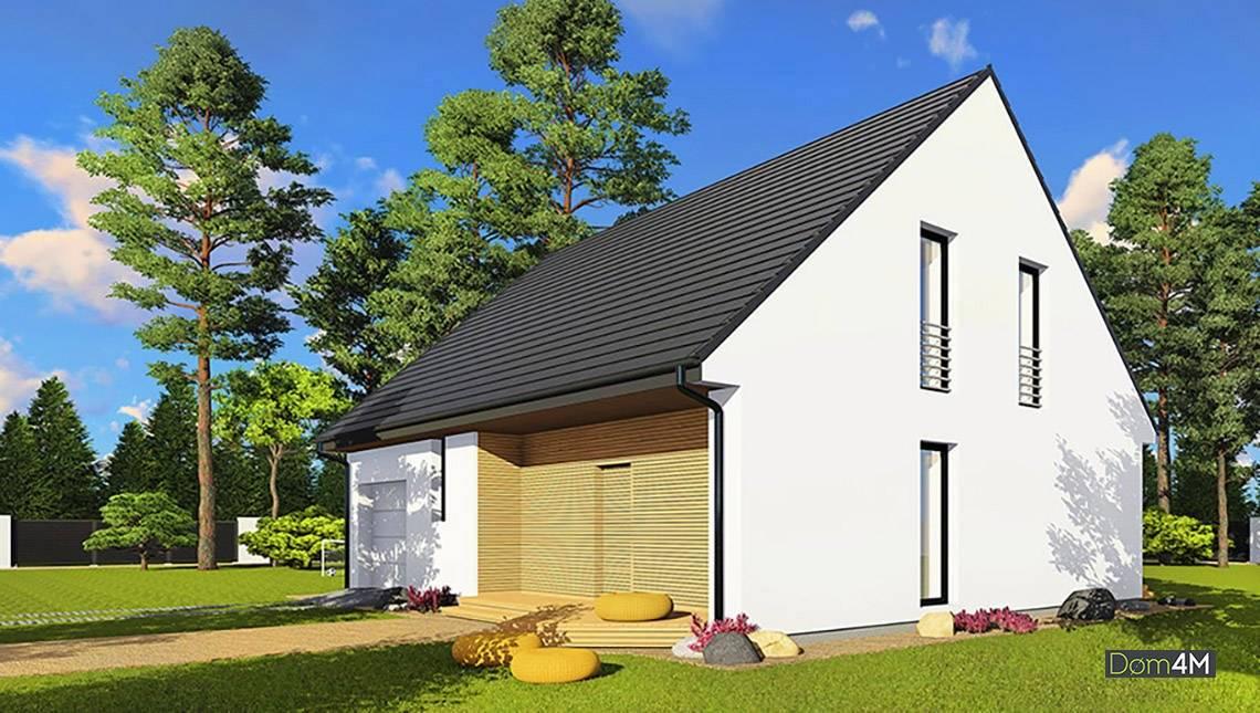 Сучасний житловий будинок з мансардою