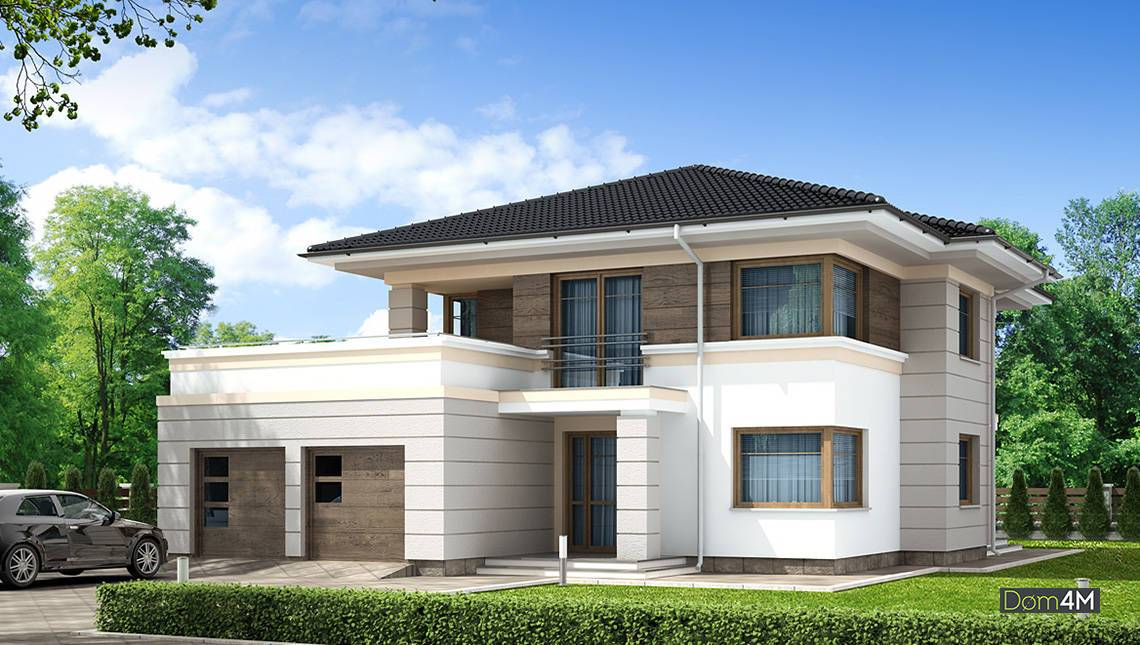 Стильний житловий будинок на два поверхи