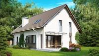 Проект будинку з гаражем та оригінальною мансардою