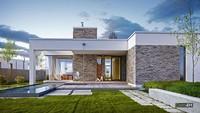 Привабливий одноповерховий особняк з двома верандами для відпочинку