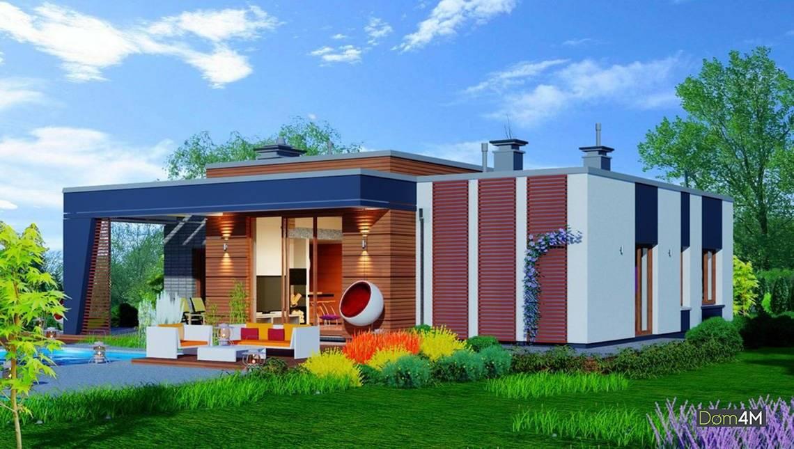 Одноповерховий сучасний будинок з гаражем