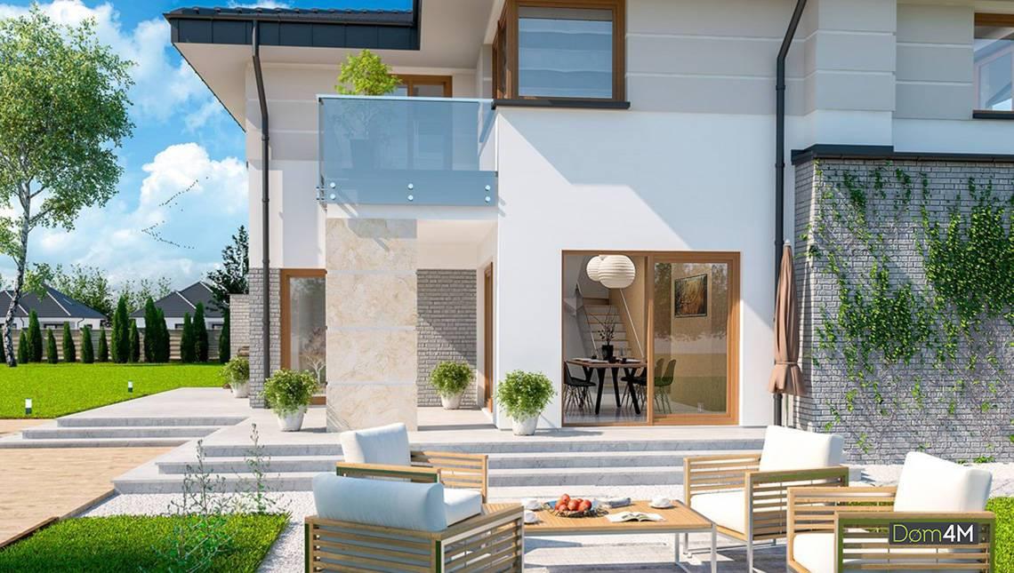 Планування для заміського будинку на чотири спальні