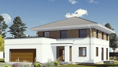Проект двоповерхового особняка для великої родини
