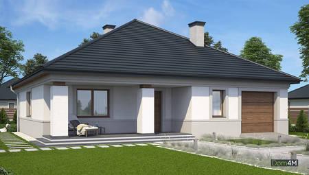 Проект одноповерхового котеджу  з трьома спальнями