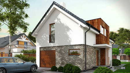 Сучасний гарний житловий будинок на два поверхи