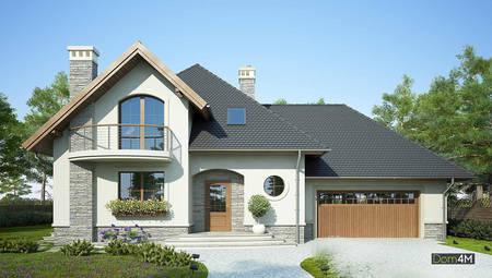 Будинок в середземноморському стилі з гаражем на два авто