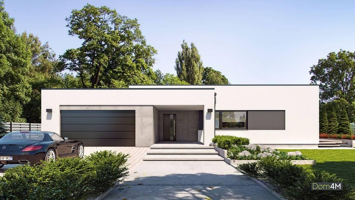 Вишуканий одноповерховий білосніжний будинок