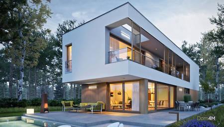 Шикарний житловий двоповерховий будинок для вузької ділянки