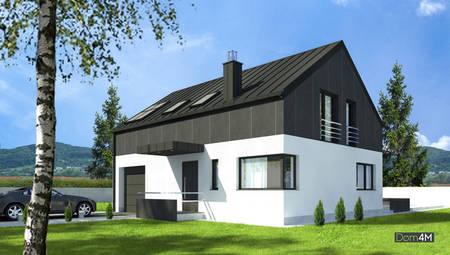 Стильний двоповерховий будинок з просторою вітальнею