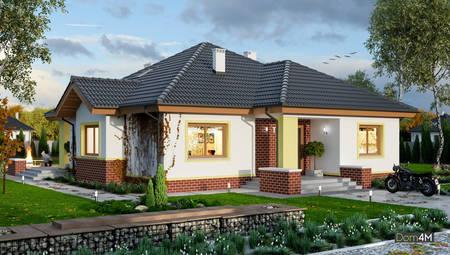 Будинок з каміном-барбекю та трьома спальнями