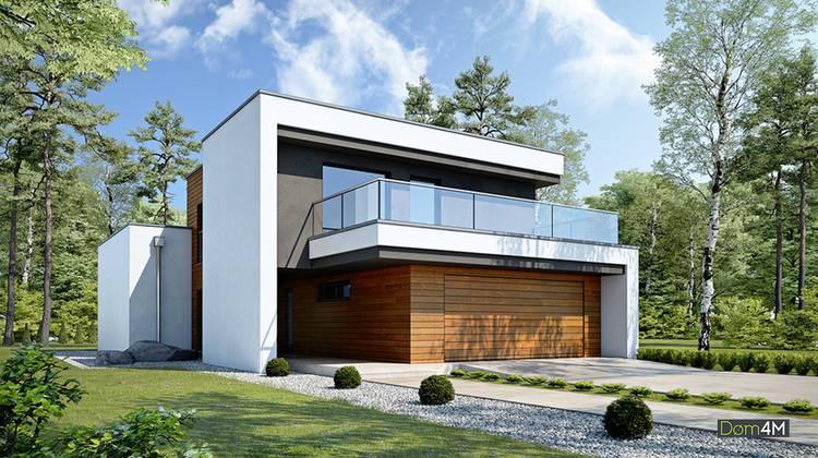 Сучасний стильний двоповерховий котедж