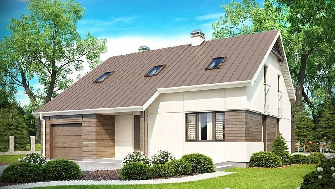 Проект будинку з мансардою, додатковою спальнею і терасою