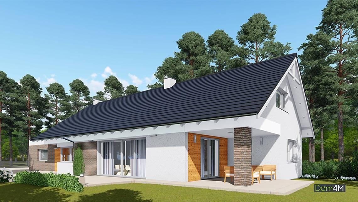Барвистий одноповерховий житловий будинок з терасою