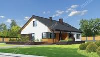 Планування європейського дому на 132 кв. м з чотирма спальнями