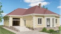 Одноповерховий будинок з еркером і гаражем